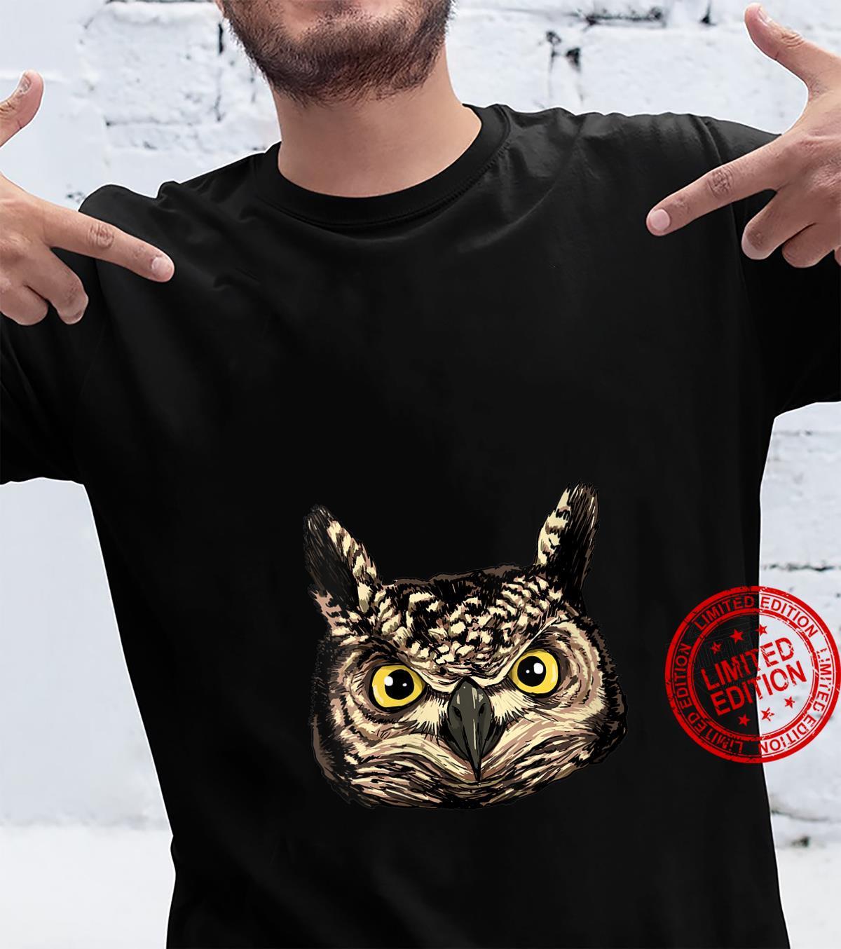 Owl Head Shirt Cute Owl Lover Shirt