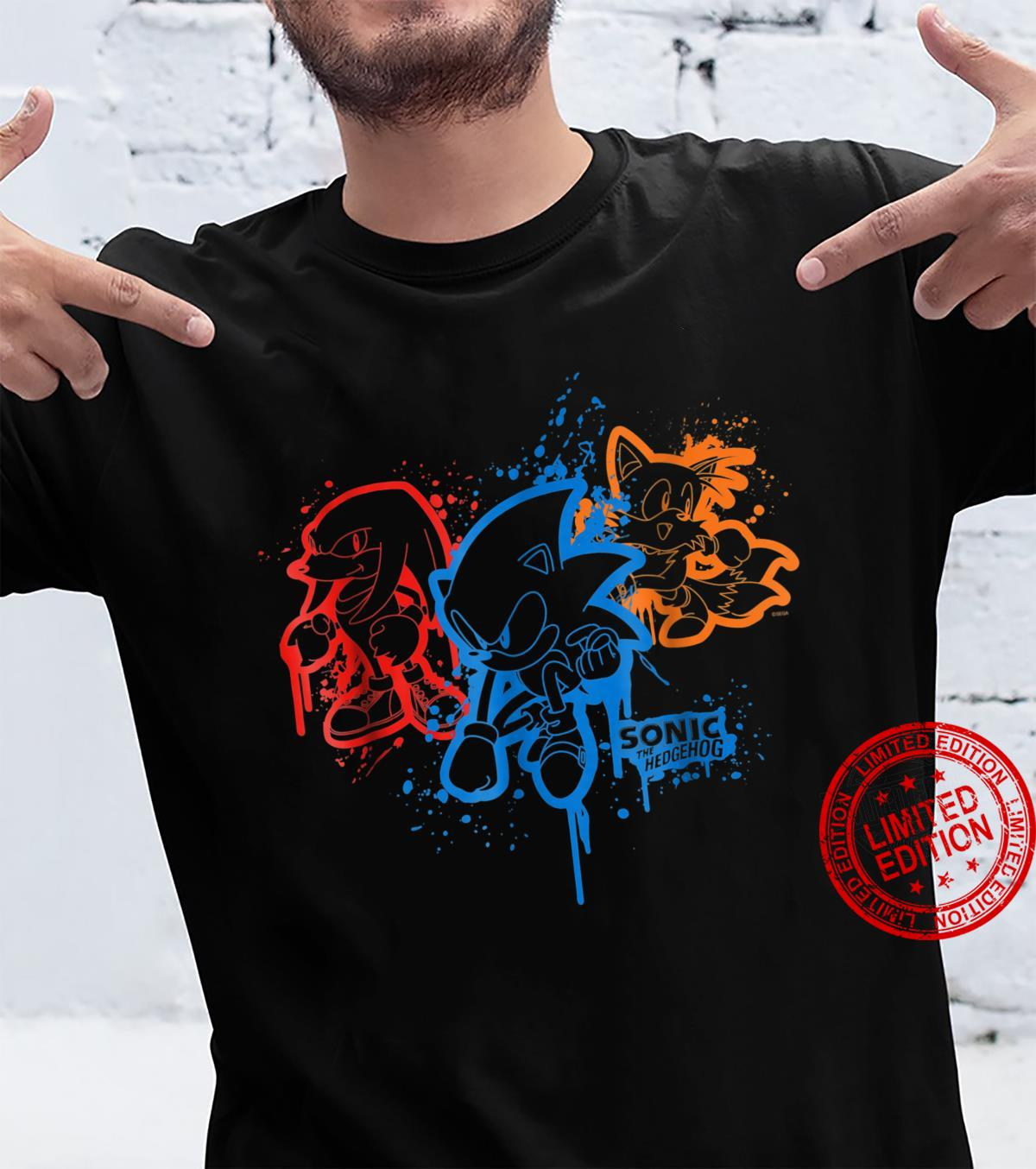 Sonic & Friends Spray Paint Shirt